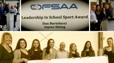Alpine ski coach Dan Bartolucci honoured