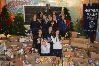 Marymount Regals Step Up Their Annual Food Drive Challenge