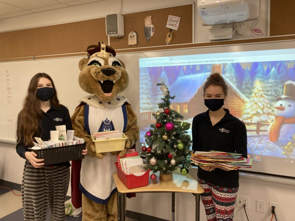 Marymount Students Send 3500 Christmas Cards to the Canadian Armed Forces