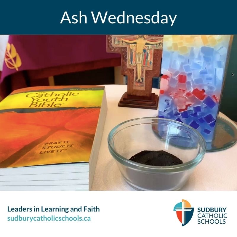 Ashes from Ash Wednesday.